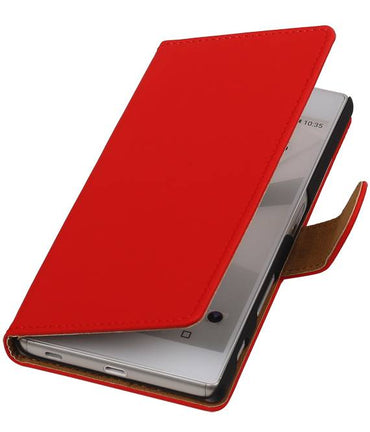 sony Xperia C5 Rood | bookstyle / book case/ wallet case Hoes  | WN™ - hoesjeshoek