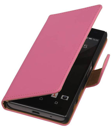 sony Xperia Z5 Compact Roze | bookstyle / book case/ wallet case Hoes  | WN™ - hoesjeshoek