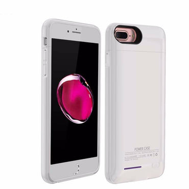 iPhone 6 / 6s / 7 3000 mAh Wit | Powerbank case hoes  | WN™ - hoesjeshoek