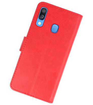 Samsung Galaxy A40 Rood | bookstyle / book case/ wallet case Wallet Case Hoesje  | WN™ - hoesjeshoek