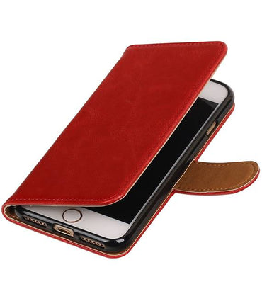 iPhone 7/8 Rood | Premium TPU PU Leder bookstyle / book case/ wallet case  | WN™
