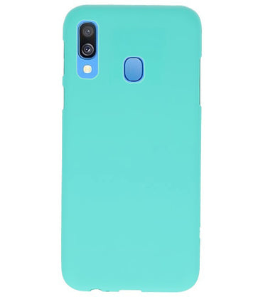 Samsung Samsung Galaxy A40 Turquoise | Backcover Siliconen  Hoesje  | WN™