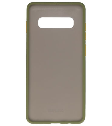 Samsung Galaxy S10 Plus Groen | Kleurcombinatie Hard Case  | WN™