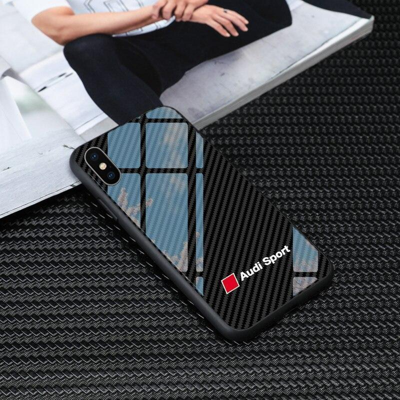 Luxury Audisport Carbon Fiber Style Phone Case