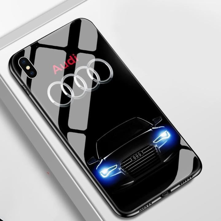 Audi Tempered Glass iPhone Case