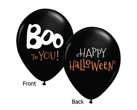 "Halloween 11"" Balloons - Set of 6"