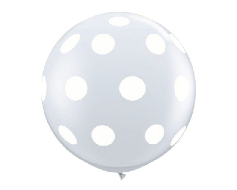 "Clear with White Polka Dots 36"" Balloon - Undercover Hostess - 1"