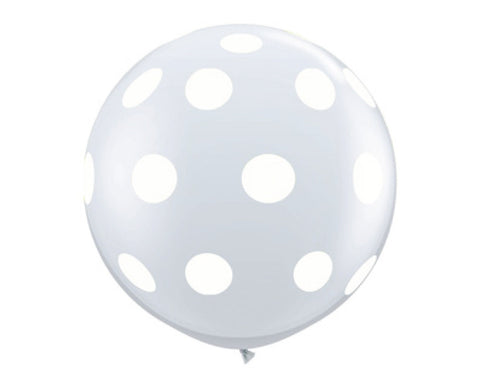 "Clear with White Polka Dots 36"" Balloon"