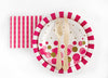 Hot Pink Polka Dots & Stripes Napkins - Undercover Hostess - 2