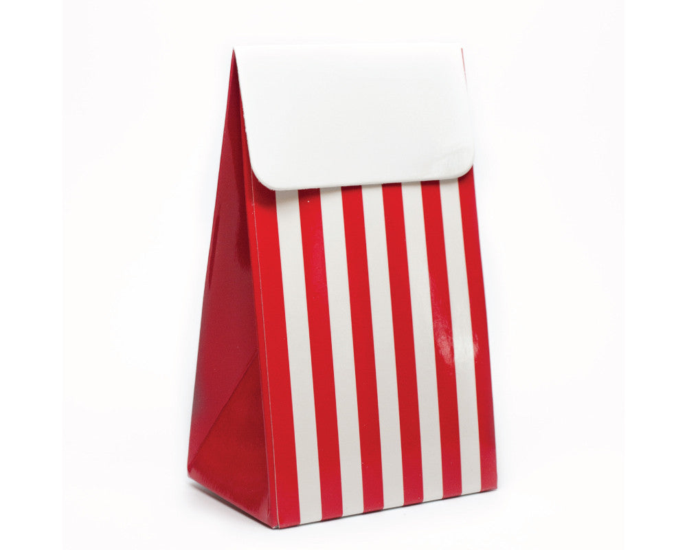 Red Stripe Favor Box - Undercover Hostess