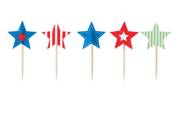 Star Cupcake Toppers - Undercover Hostess