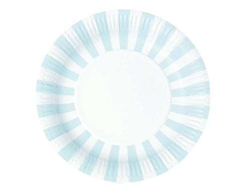 Baby Blue Stripe Paper Plates
