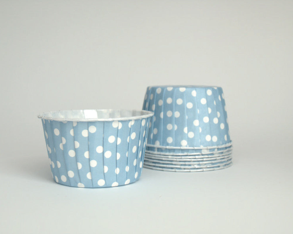 Baby Blue Polka Dot Candy Cups - Undercover Hostess