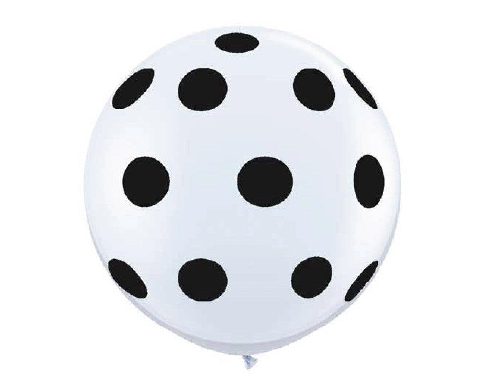 "Black and White Polka Dot 36"" Balloon - Undercover Hostess - 1"