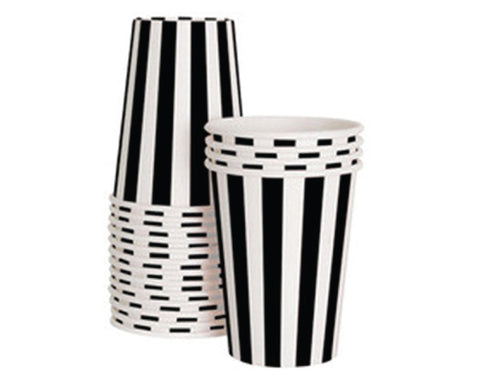 Black & White Stripe Paper Cups