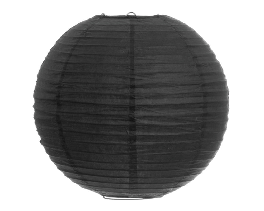 "Black Paper Lantern - 12"" - Undercover Hostess"