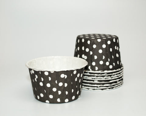 Black Polka Dot Candy Cups