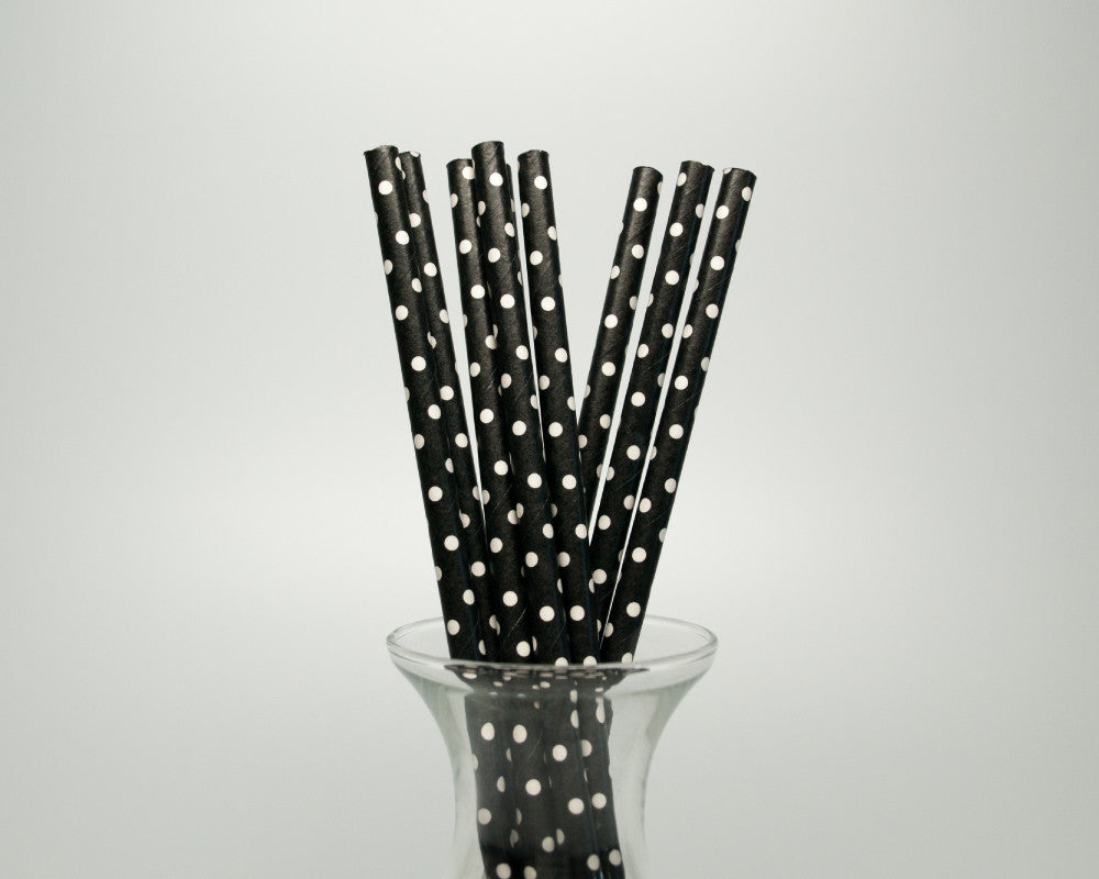 Black Polka Dot Straws - Undercover Hostess