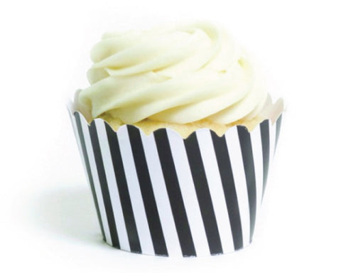 Black & White Striped Cupcake Wrappers