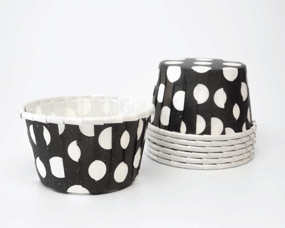 Black and White Large Polka Dot Candy Cups - Undercover Hostess