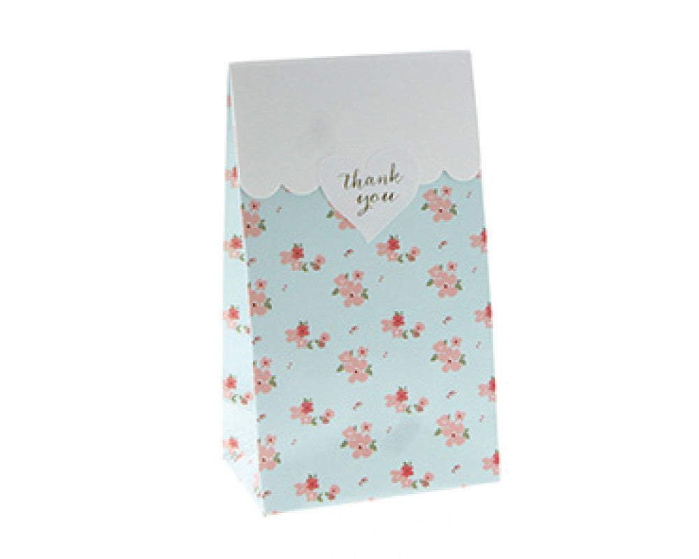 Blue Floral Favor Bag - Undercover Hostess - 1