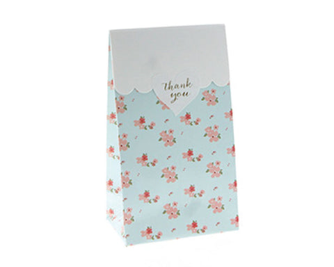 Blue Floral Favor Bag