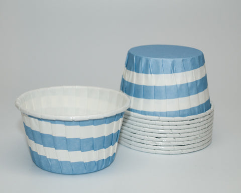 Blue Stripe Candy Cups
