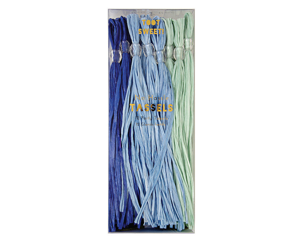Blue Party Tassels - Undercover Hostess