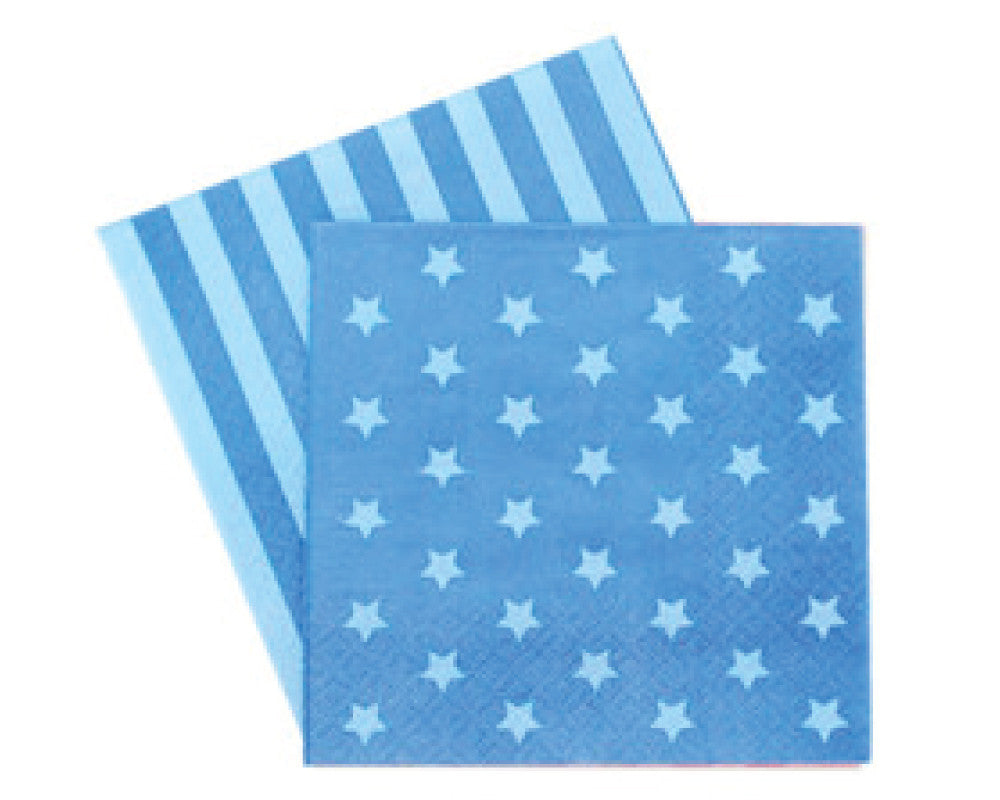 Blue Stars & Stripes Napkins - Undercover Hostess