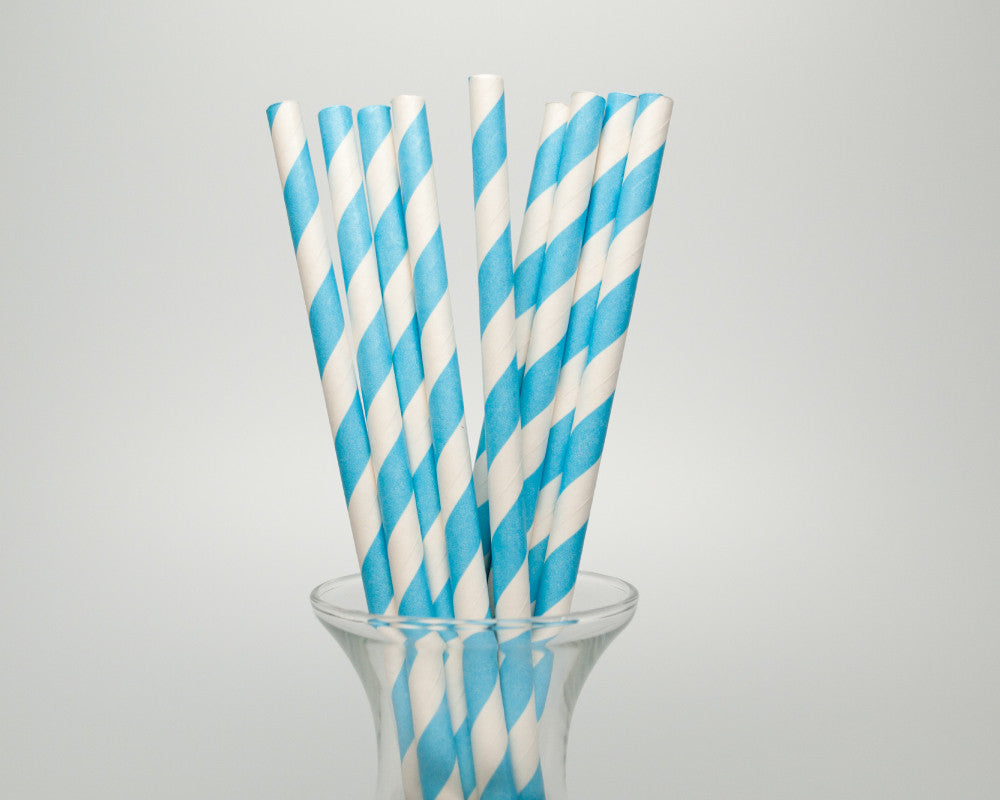 Blue Striped Straws - Undercover Hostess