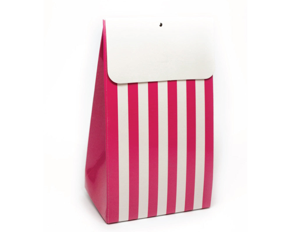 Bright Pink Stripe Favor Box - Undercover Hostess