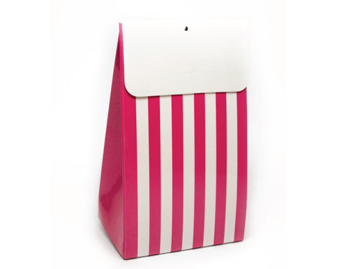 Bright Pink Stripe Favor Box