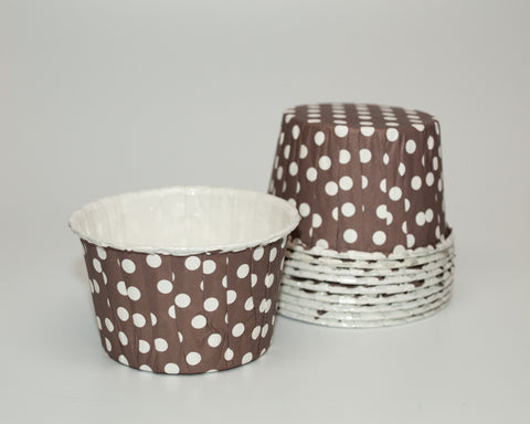 Brown Polka Dot Candy Cups