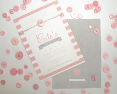 Cute as a Button Birthday Invitations - Undercover Hostess - 1