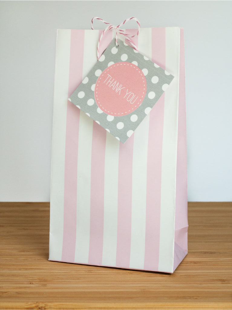 Cute as a Button Favor Bags & Tags - Undercover Hostess