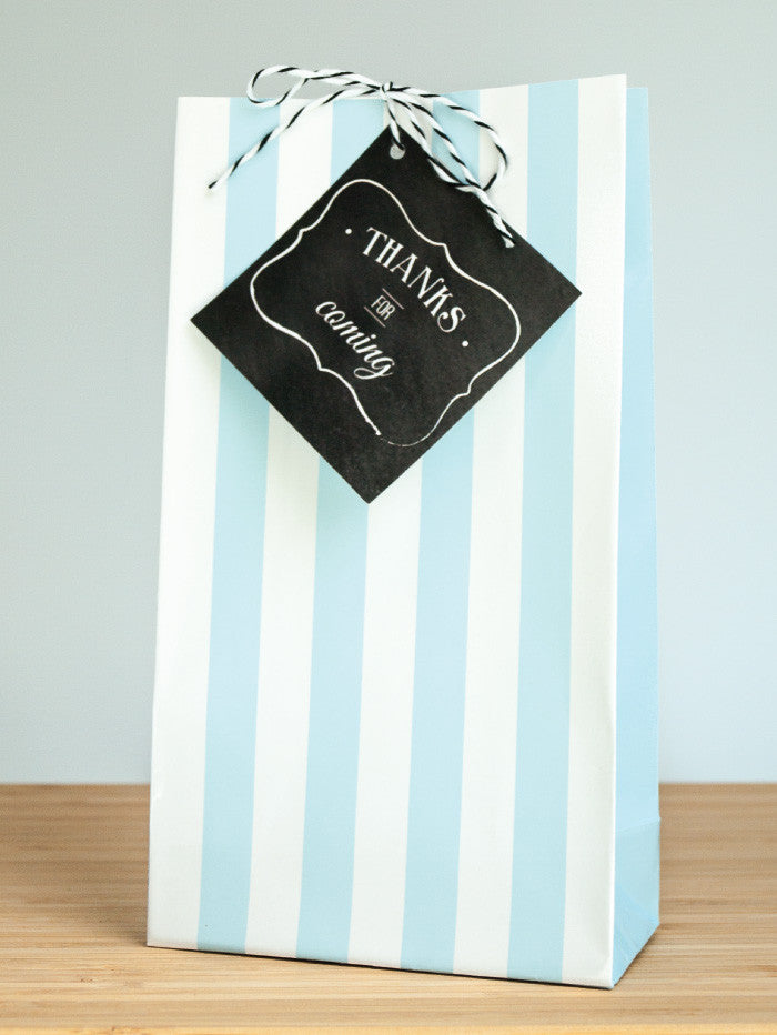 Charming Chalkboard Baby Boy Favor Bags & Tags - Undercover Hostess