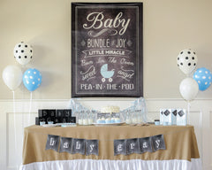 Charming Chalkboard Baby Boy Hostess Kit - Undercover Hostess - 2