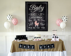 Charming Chalkboard Baby Girl Hostess Kit - Undercover Hostess - 1