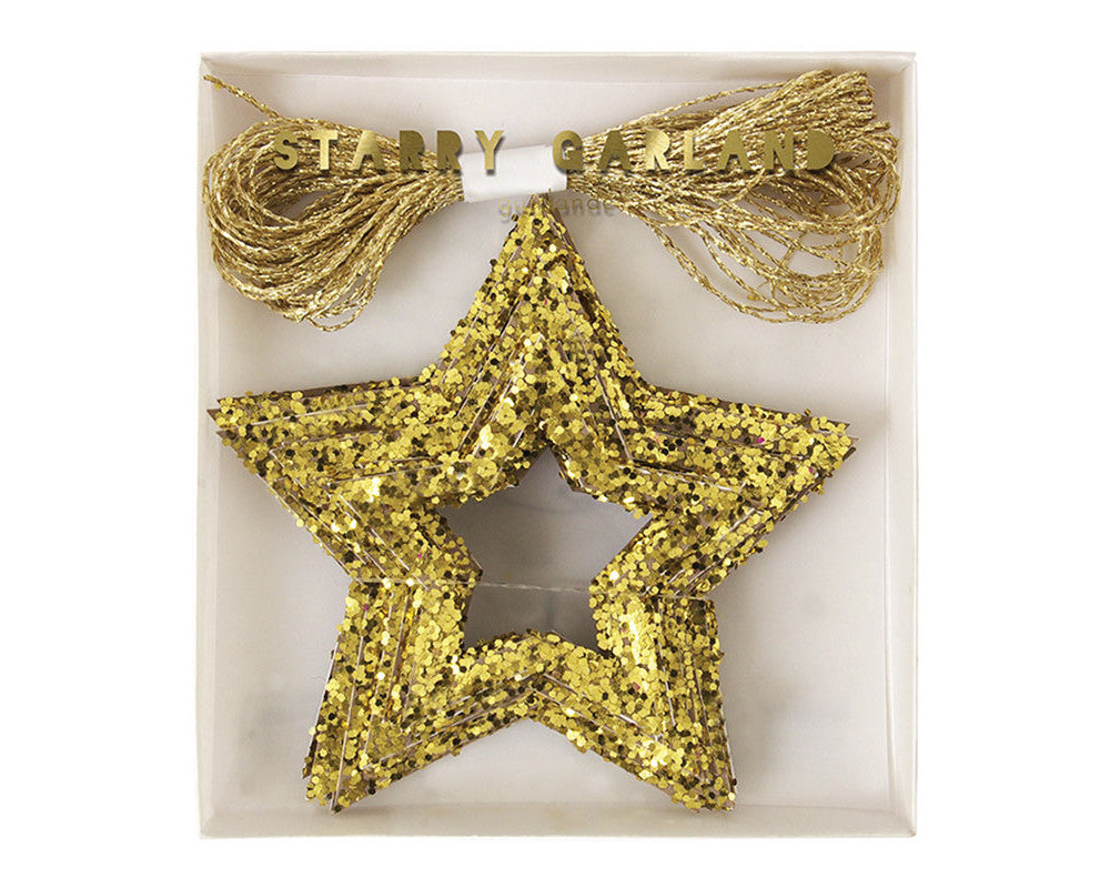 Chunky Glitter Stars Mini Garland - Undercover Hostess