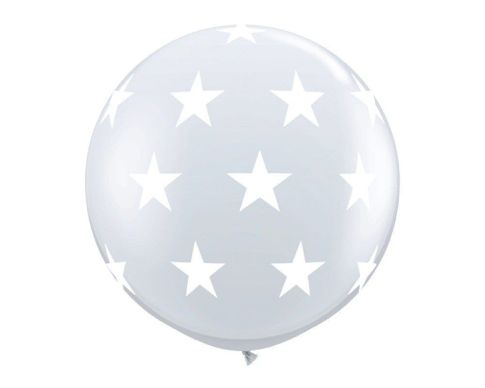 "Clear with Stars 36"" Balloon - Undercover Hostess - 1"