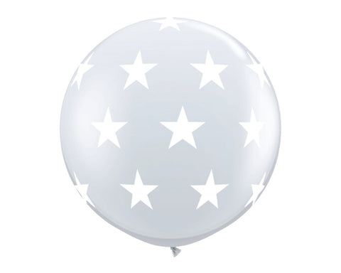"Clear with Stars 36"" Balloon"