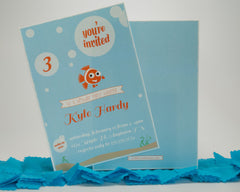 Clownfish Birthday Invitations - Undercover Hostess - 1