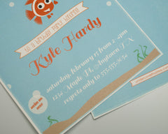 Clownfish Birthday Invitations - Undercover Hostess - 2