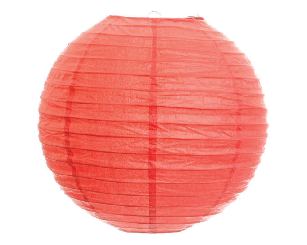 "Coral Paper Lantern - 12"" - Undercover Hostess"