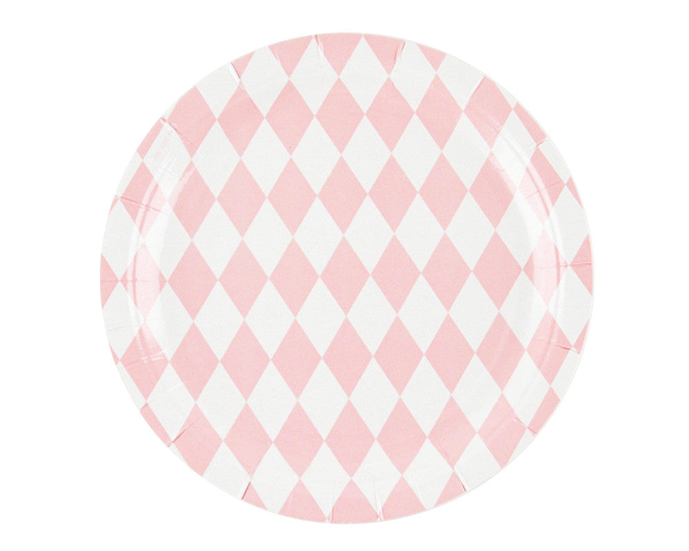 Diamond Pink Paper Plates - Undercover Hostess