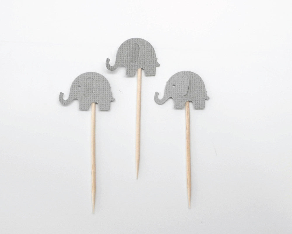 Elephant Cupcake Toppers - Undercover Hostess