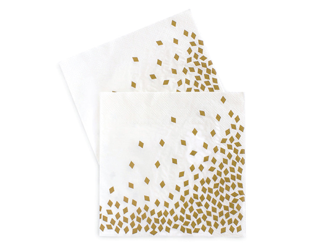 Gold Confetti Napkins - Undercover Hostess - 1