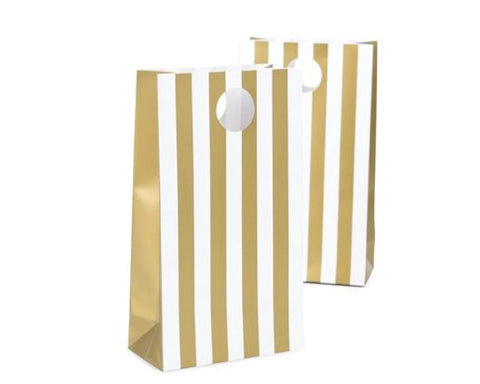 Gold Stripe Favor Bag