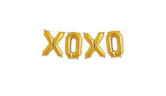 Gold XOXO Balloon Kit
