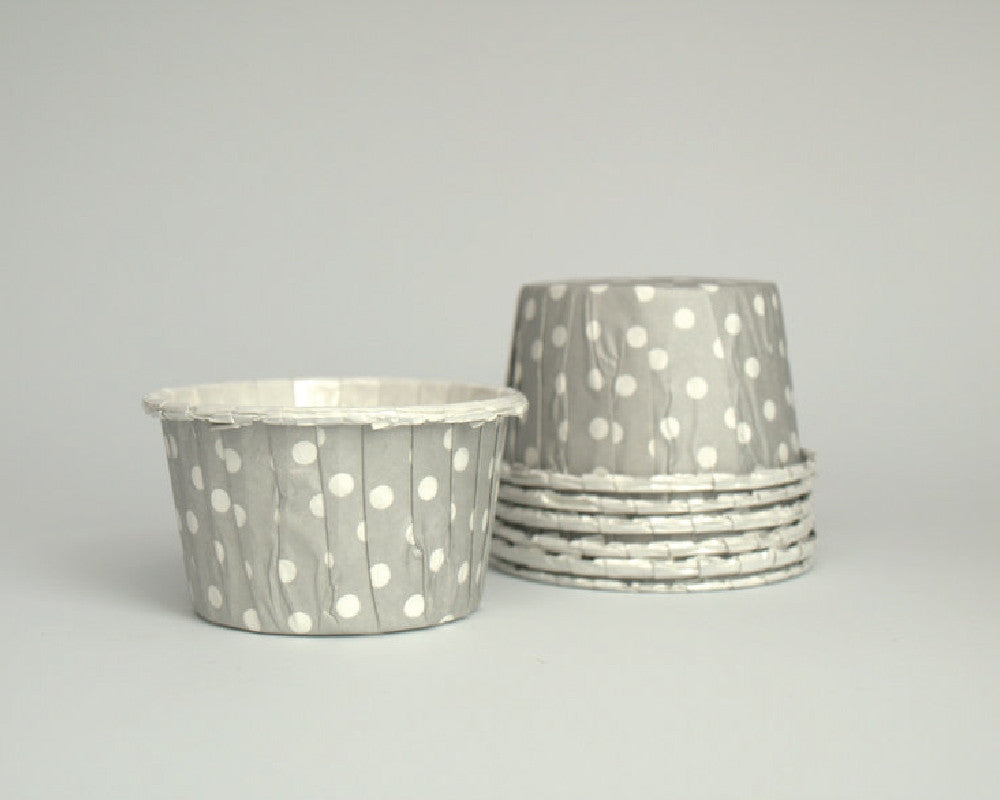 Gray Polka Dot Candy Cups - Undercover Hostess